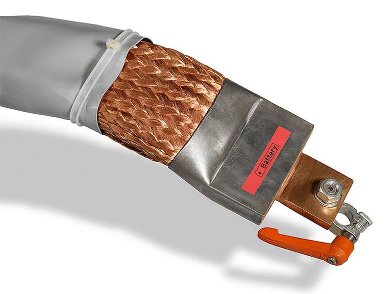 Flexibles Kupferkabeln mit Strömen von bis zu 3.000 Ampere