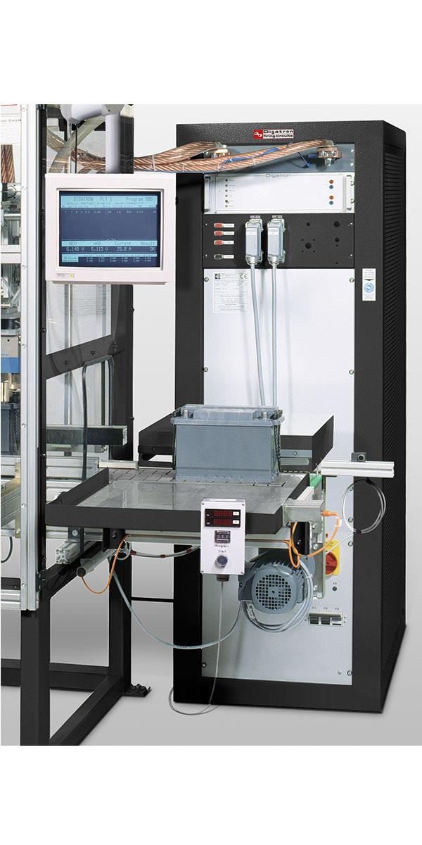 Digatron PLT, Station f?r Belatungstests an Starterbatterien direkt nach der Formation