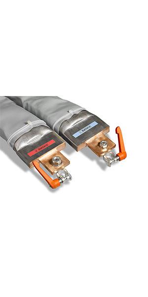 Digatron BPK, Polklemmen zur Verbindung von Batterie und Hochstromkabel
