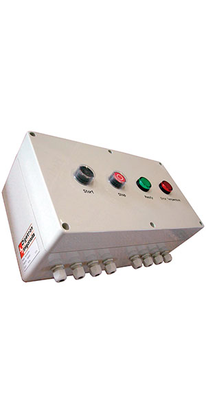 Water bath controller for maintaining the temperature range during monobloc container formation